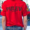 Червена тениска Пулев Спорт с лъв, гръб