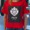 Червена тениска Пулев Спорт с лъв, лице